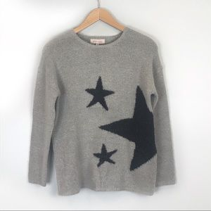 Philosophy Gray & Black Star Embellished Sweater